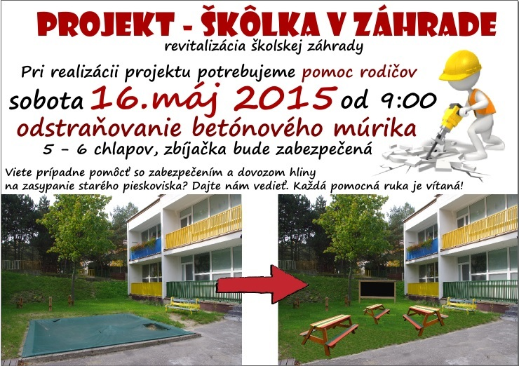 projekt skolka v zahrade