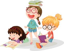 deti citaju knihu