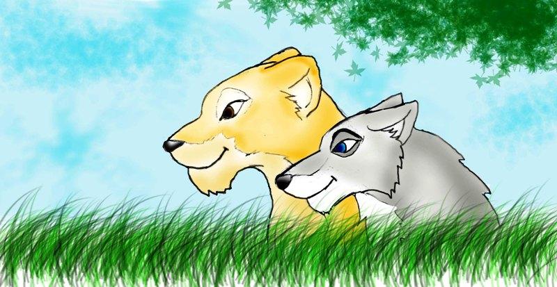 divadielko levica a vlcica