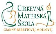Logo Cirkevná materská škola Gianny Berettovej Mollovej Dúbravka